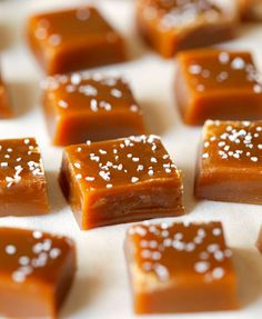 CHEWY SALTED CARAMELS  ~~~  Once you make your own caramels and figure out that it's actually pretty easy, you won't be able to go back to store-bought caramels. They don't have the same overwhelming sweetness and have a deep brown butter flavor. So good!