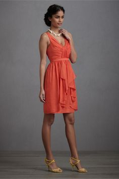 fire orange Vivacity Shift Dress,   BHLDN