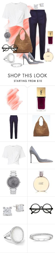 """""""Untitled #62"""" by tammy-stacey ❤ liked on Polyvore featuring Birchrose + Co., Yves Saint Laurent, Jacquemus, Banana Republic, T By Alexander Wang, Gianvito Rossi, Michael Kors, Chanel, Retrò and Ippolita"""