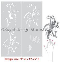 Staff of Life Trophy Furniture Stencil | Royal Design Studio