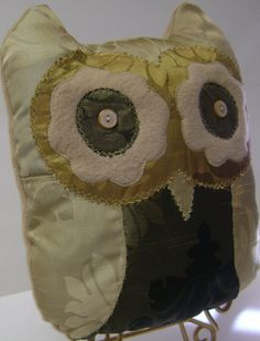 Upcycled Decorative Owl Pillows Gifts Home by kalenescustomgifts, $22.00