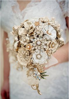 Wedding bouquet  Custom made to order   by HAIRBOWSWONDERWORLD                                                                                                                                                                                 More