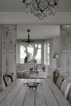 Idea for the doorway Btwn kitchen and sitting room!!!!  Nordic decor gorgeousness by Hvítur LAKKRÍS