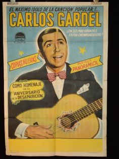 "This is for an original vintage theatrical (1950's re-released) Argentine one sheet movie poster from 1931 film ""Las Luces de Buenos Aires"", starring Carlos Gardel, Sofía Buzán and Gloria Guzmán. Buy it for $3,100,000 at ximena.fashion.design on ebay"