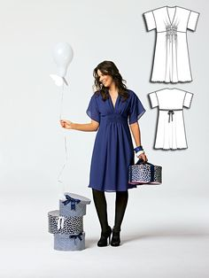 Ruched Dress 05/2010 #burdastyle #sewing #pattern #diy #sew