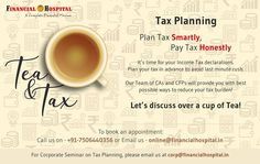Financial Hospital - A leading tax advisory firm in Mumbai, India. We have a team of experienced CAs and Tax Experts to provide the best taxation services such as Corporate Tax planning, income tax filing, tax auditing and many more. Call on Tax Deductions, Income Tax, A Team, Mumbai, Investing, How To Plan, Business, Business Illustration