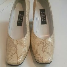 Vintage Stuart Weitzman Python heels! Beautiful pair. Size 7 1/2. Hardly worn. In great condition!! Looks like python or snake skin. Very chic and vintage! Stuart Weitzman Shoes Heels