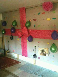 Best birthday present ever! Bouldering wall!