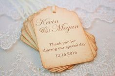 Personalized Wedding Favor Tags Name and Date Special Day