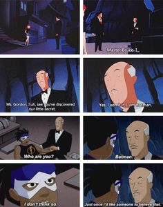 I think Alfred is probably smart enough to be batman #the batler