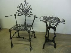 Wrench Table and Chair, Chris Hausbeck