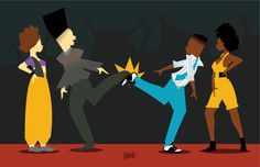 Kid 'n Play - | These Illustrations of '90s Black Pop Culture AreAmazing