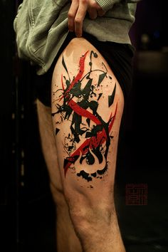Fire Stripes - artwork and tattoo by Jamie - Tattoo Temple Hong Kong    www.tattootemple.hk