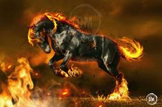 Diabolo in seiner Pferdegestalt
