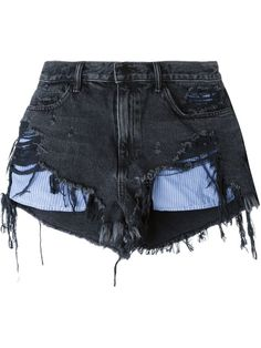 Alexander Wang Short Jeans Com Efeito Desgastado - Julian Fashion - Farfetch.com