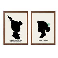 PETER PAN   Never Saying Goodbye Poster : Walt Disney Modern Illustration Retro Art Wall Decor Print