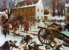 Batalla en las calles de Trenton entre las tropas americanas y granaderos alemanes de Hesse al servicio británico durante la Guerra de Independencia Americana el 25 de Diciembre 1776.  Más en www.elgrancapitan.org/foro