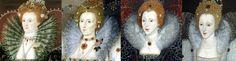 La Collarette en Angleterre. Elisabeth - années 1590. En Angleterre  Bénéficiant d'un contexte politique plus agréable, la mode anglaise reprend à son compte ce qui avait fait la caractéristique de la mode française. Elle arbore les décolletés, avec le port de collerettes en éventail particulièrement imposantes.