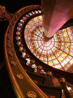 Louisiana Old State Capitol – lovely iron spiral staircase by Shamus OReilly, via Flickr