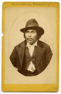 Cherokee  native American named Downing, Huckleberry