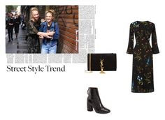 """""""#54"""" by clairecnlp ❤ liked on Polyvore featuring Warehouse, Topshop, Yves Saint Laurent and bellsleevedress"""