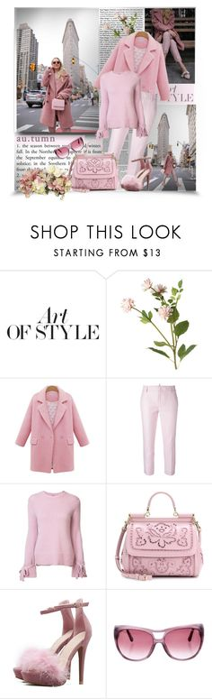 """""""Autumn in rose"""" by barbara-gennari ❤ liked on Polyvore featuring Pierre Hardy, OKA, Dsquared2, ADAM, Dolce&Gabbana and Tom Ford"""