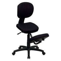 Flash Furniture Black Contemporary Desk Chair at Lowe's. This ergonomic chair resembles the look of a conventional task chair, but with the inclusion of a kneeling pad. You'll be able to regain your body's Ergonomic Kneeling Chair, Conference Room Chairs, Contemporary Desk, Executive Office Chairs, Office Desk, Black Office, Adjustable Height Desk, Ergonomic Office Chair, Back Seat