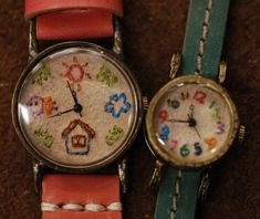embroidered watch faces!