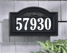 Light Up Address Plaque
