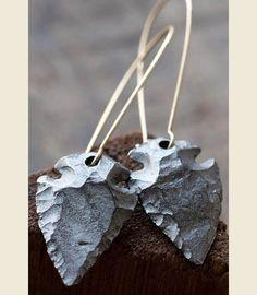 The Bozeman arrowhead earrings