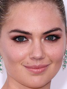 Close-up of Kate Upton at the 2017 Cannes amfAR Gala.