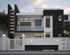 What do you think of about this beautiful house design? Single Floor House Design, Bungalow House Design, Small House Design, Modern Exterior House Designs, Modern House Plans, Modern House Design, Contemporary Design, Front Wall Design, House Architecture Styles