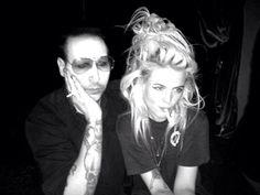 Marilyn Manson & Alison Mosshart at Teddy's Fridays