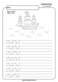 More - grafomotorika - pracovné listy pre deti Tracing Worksheets, Preschool Worksheets, Writing Activities, Alphabet, Album, Handwriting, Fine Motor, Party, Writing