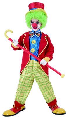 Colorido disfraz de payaso para niños. Disponible en www.vegaoo.es