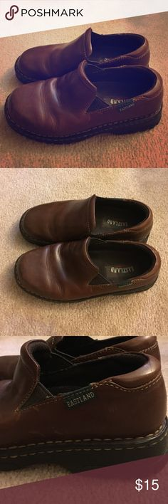 Eastland shoe 7 Brown slip on, great used condition. Eastland Shoes