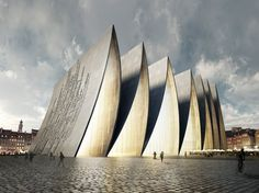 New York-based architecture office Axis Mundi has designed a place of worship in Strasbourg, France called 'Cathedral Fold'