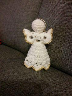 Virkattu enkeli Crochet Angels, Crochet Earrings, Amigurumi