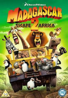 The DVD box Art of Madagascar 2 Escape to Africa.
