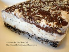 Addicted to Recipes: Nanaimo Bar Ice Cream Cake This sounds so yummy I must make it one day Bbc Good Food Recipes, Sweet Recipes, Cake Recipes, Dessert Recipes, Healthy Recipes, Yummy Recipes, Recipies, Food Cakes, Cupcake Cakes
