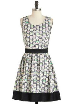 Lend Me Some Sugar Dress, #ModCloth - deceptively sweet - the pattern is sugar skulls