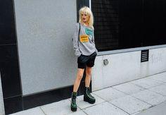 Hanne Gaby Odiele.. #NYFW #SS16 #StreetStyle #HanneGabyOdiele #AcneStudios #AlexanderWang #Style #Outfit