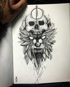 Ozzy Tattoo, Tatoo Styles, Cursive Tattoos, Geometric Deer, Mythology Tattoos, Pretty Drawings, Tattoo Project, Dark Tattoo, Tattoo Stencils