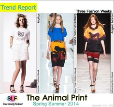 The Animal Print FashionTrend for Spring Summer 2014 at New York, London, & Milan Fashion Weeks. MoreAnimal PrintFashion Trend for S...