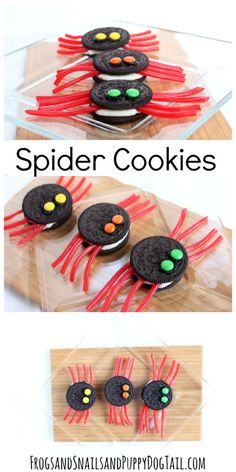 Cookies for Halloween fun spider cookies for Halloween party.fun spider cookies for Halloween party. Halloween Desserts, Buffet Halloween, Hallowen Food, Halloween Torte, Postres Halloween, Halloween Infantil, Recetas Halloween, Soirée Halloween, Halloween Baking