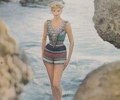 3fb4afd25d Vintage bathing suit 1950s Fashion