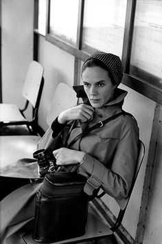 Martine Franck, photographed by her husband, Henri Cartier-Bresson