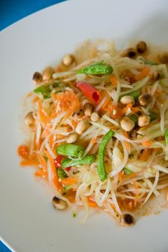 Somtam, or Thai papaya salad