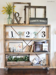 Build this Rolling DIY Bookshelf with easy plans provided by Ana White. Then get the tips on the adjustments I made and how I obtained an old wood finish.