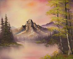 bob ross luminous lake painting